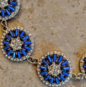 Banana Republic Jewelry - Banana Republic Elegant Blue & While Necklace